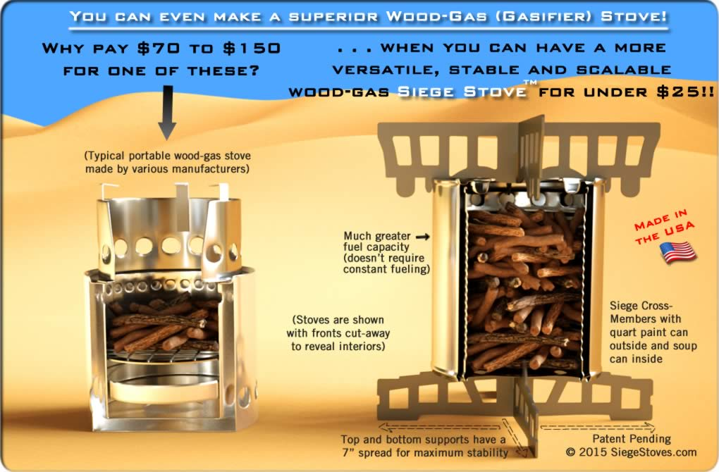 Paint Can Wood Gasifier : Make your own superior Wood-Gas Stove with the Universal Siege Stove ...