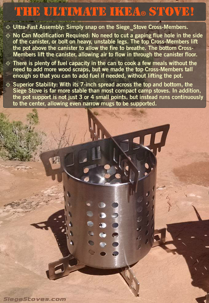 Make the ultimate IKEA camp stove DIY. Fastest, most stable, low-cost, powerful, better air flow.