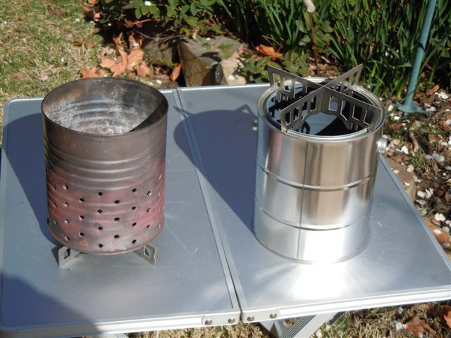 Paint Can Wood Gasifier : Wood Gas Stove : Paint Can Wood Gas Stove
